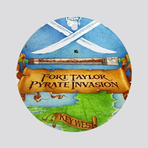 Fort Taylor Pyrate Invasion Round Ornament