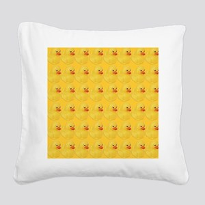 Rubber Duck Pattern Square Canvas Pillow