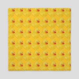 Rubber Duck Pattern Queen Duvet
