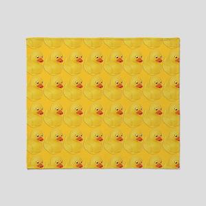 Rubber Duck Pattern Throw Blanket