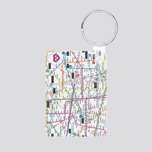 Love map Aluminum Photo Keychain