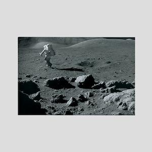 Apollo 17 astronaut Rectangle Magnet