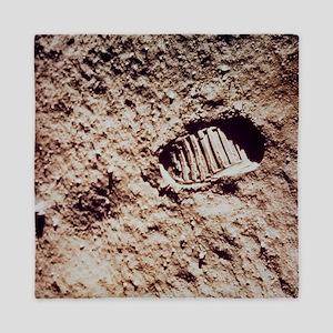 Apollo 11 footprint on Lunar soil Queen Duvet