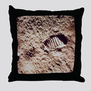 Apollo 11 footprint on Lunar soil Throw Pillow