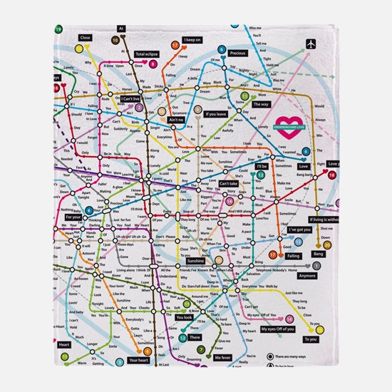 Love map Throw Blanket
