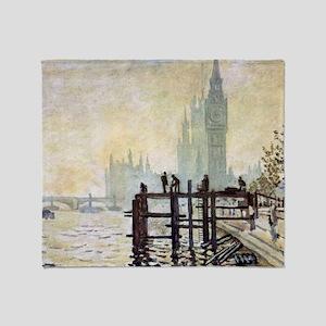 Claude Monet Westminster Bridge Throw Blanket