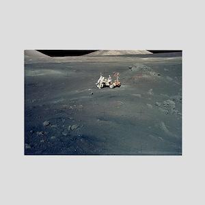 Apollo 17 astronauts Rectangle Magnet