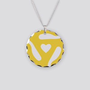 45 Record Adapter Necklace Circle Charm