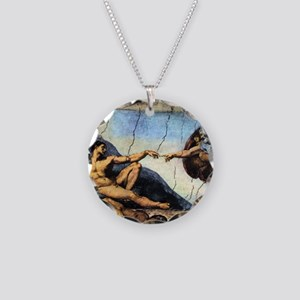 Michelangelo Creation Of Ada Necklace Circle Charm