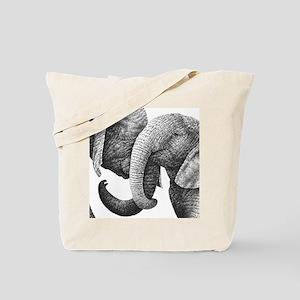 Young African Elephants Gel Mousepad Tote Bag