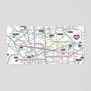 Love map Aluminum License Plate