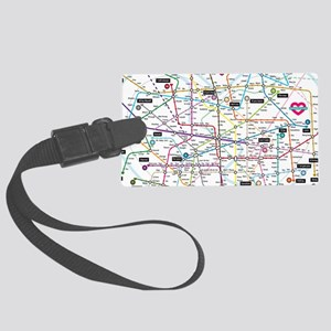 Love map Large Luggage Tag