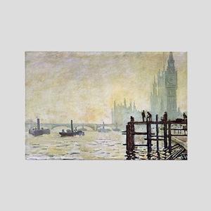 Claude Monet Westminster Bridge Rectangle Magnet