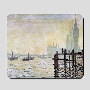 Claude Monet Westminster Bridge Mousepad
