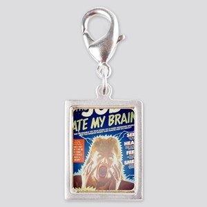 job that ate my brain Silver Portrait Charm
