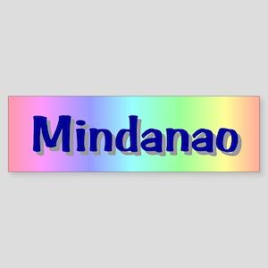 Mindanao Map Gifts Bumper Sticker
