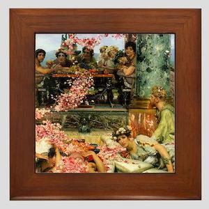 The Roses of Heliogabalus Framed Tile