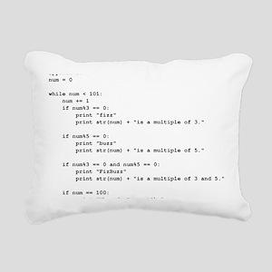 fizz-buzz-python-tshirt Rectangular Canvas Pillow
