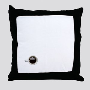 Instant Photographer, Add Coffee Throw Pillow