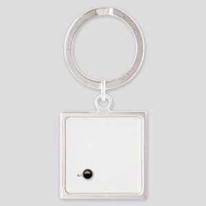Instant Photographer, Add Coffee Square Keychain