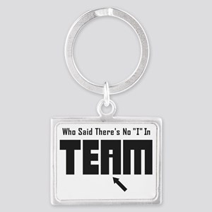 I In Team Landscape Keychain