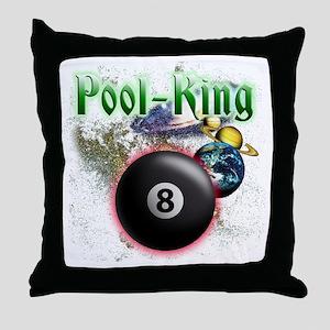 pool king Throw Pillow
