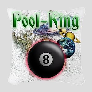 pool king Woven Throw Pillow