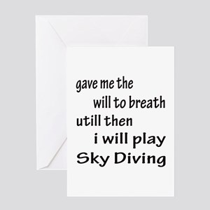 I will play Sky Diving Greeting Card