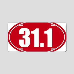 31.1 50k oval red decal sti Aluminum License Plate