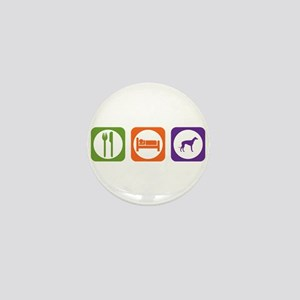 Eat Sleep Lurcher Mini Button