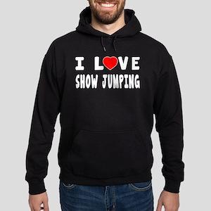 I Love Show Jumping Hoodie (dark)