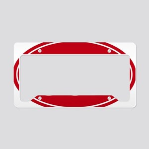 50k 31.1 red oval decal stick License Plate Holder
