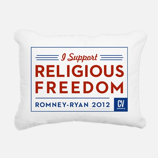 I Support Religious Free Rectangular Canvas Pillow
