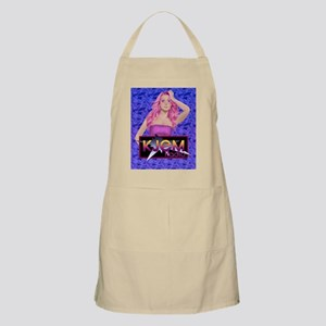 Pink Hair Rocker Girl - Blue Apron