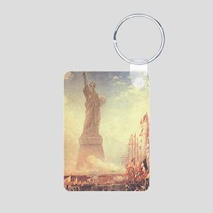 Statue of Liberty Aluminum Photo Keychain