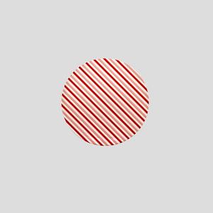 Candy cane Mini Button