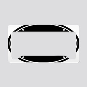 31.1 50k oval black sticker d License Plate Holder