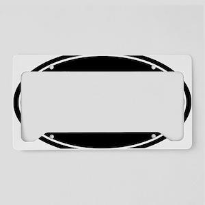 31.1 50k oval black sticker d License Plate Holder