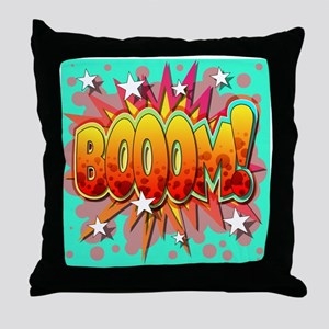 Comic Book Booom! Throw Pillow