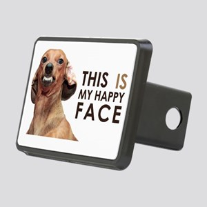 Happy Face Dachshund Rectangular Hitch Cover