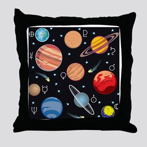 Planets Throw Pillow