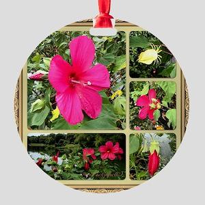 Hybiscus Round Ornament