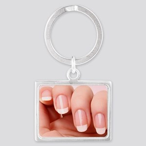 Manicurist Nail Tech Landscape Keychain
