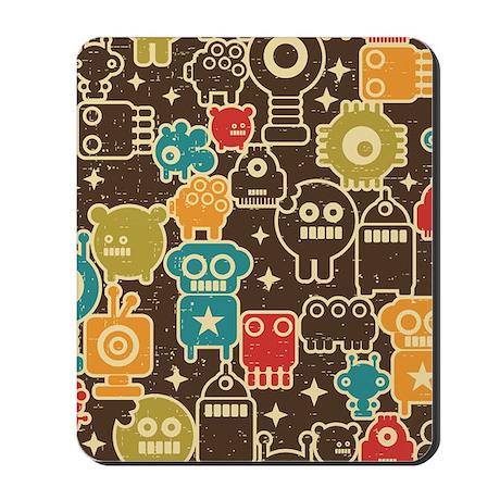 Retro Robots Mousepad