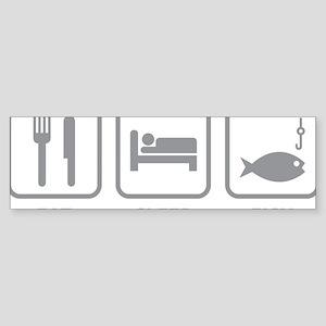 eatSleepFish1C Sticker (Bumper)