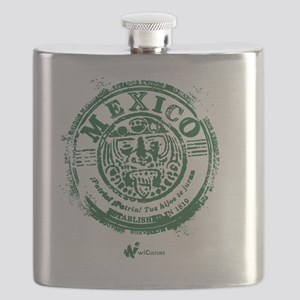 Mexico Stamp Flask