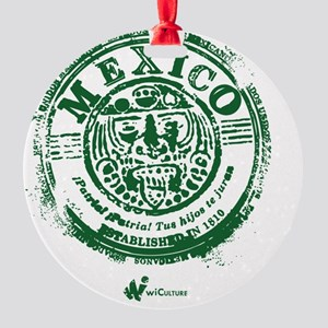 Mexico Stamp Round Ornament