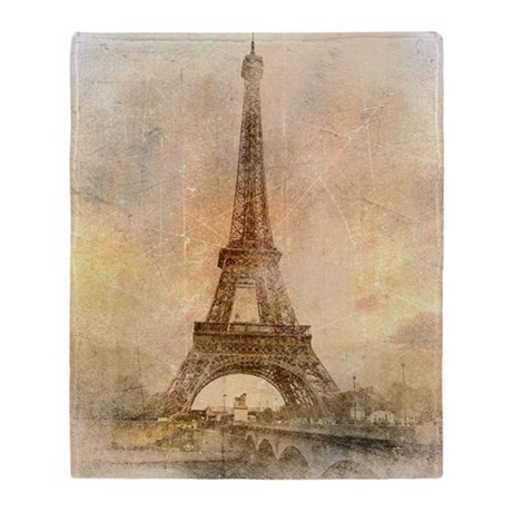 Eiffel Tower Throw Blanket