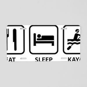 eatSleepKayak1A Aluminum License Plate