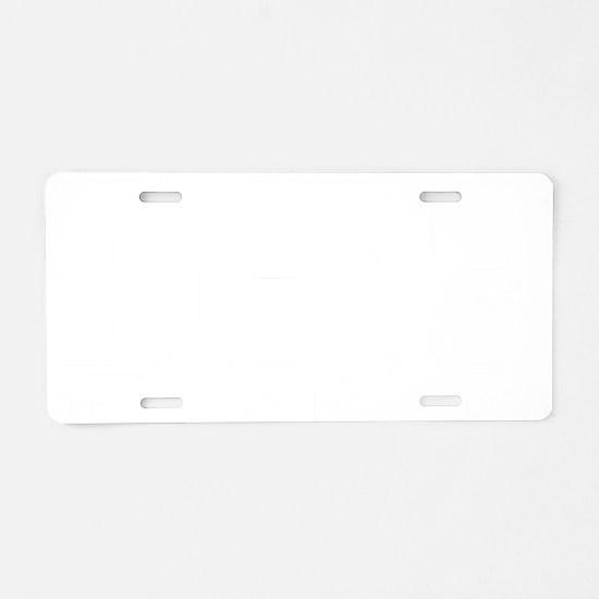 eatSleepKayak1B Aluminum License Plate